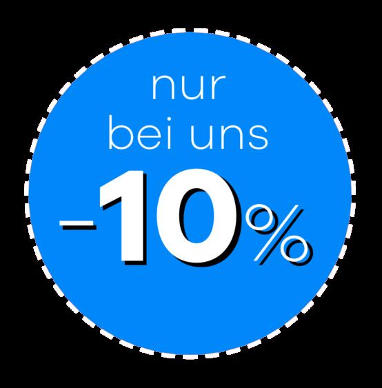 Rabatt Button für 10%